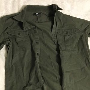 Green Uniqlo Jacket